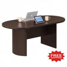 "72""W Oval Conference Table in Three Color Choices - FREE Shipping!"