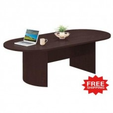 "96""W Oval Conference Table in Three Color Choices - FREE Shipping!"