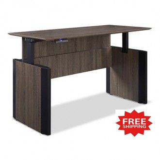 """60""""W x 30""""D Adjustable Height Lift Desk in Three Color Choices - FREE Shipping!"""