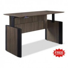 "72""W x 30""D Adjustable Height Lift Desk in Three Color Choices - FREE Shipping!"