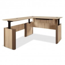 "L-Shape Adjustable Height Desk, 60""W and 78""W x 30""D in Three Color Choices - FREE Shipping!"