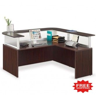 L-Shape Reception Desk - FREE Shipping!
