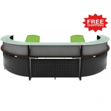 2 Person Wrap Around Reception Desk - FREE FREIGHT