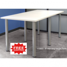8' Standing Meeting / Conference Table FREE FREIGHT