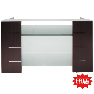 Glass Front Reception Desk in 6 Colors FREE FREIGHT