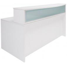 White Laminate Salon Reception Desk – FREE Shipping!