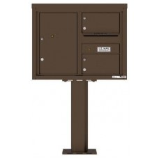 Commercial and Residential Mailboxes-Front Loading Mailbox, 4C Mailbox w/2 Oversized Tenant Compartments, 1 Parcel Locker