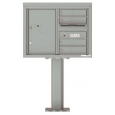Commercial and Residential Mailboxes-Front Loading Mailbox, 4C Mailbox w/4 Tenant Compartments, 1 Parcel Locker