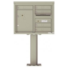 Commercial and Residential Mailboxes-Front Loading Mailbox, 4C Mailbox w/5 Tenant Compartments