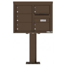 Commercial and Residential Mailboxes-Front Loading Mailbox, 4C Mailbox w/5 Oversized Tenant Compartments