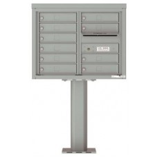 Commercial and Residential Mailboxes-Front Loading Mailbox, 4C Mailbox w/10 Tenant Compartments