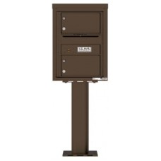 Commercial and Residential Mailboxes-Front Loading Mailbox, 4C Mailbox w/2 Oversized Tenant Compartments