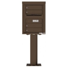 Commercial and Residential Mailboxes-Front Loading Mailbox, 4C Mailbox w/4 Tenant Compartments