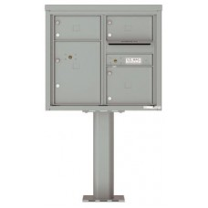 Commercial and Residential Mailboxes-Front Loading Mailbox, 4C Mailbox w/3 Oversized Tenant Compartments, 1 Parcel Locker