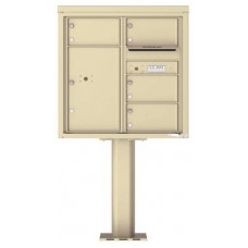 Commercial and Residential Mailboxes-Front Loading Mailbox, 4C Mailbox w/4 Oversized Tenant Compartments, 1 Parcel Locker