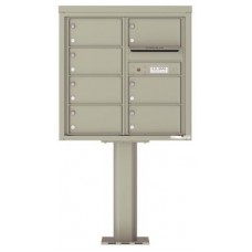 Commercial and Residential Mailboxes-Front Loading Mailbox, 4C Mailbox w/7 Over-sized Tenant Compartments