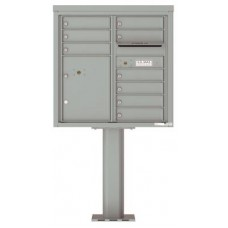 Commercial and Residential Mailboxes-Front Loading Mailbox, 4C Mailbox w/9 Tenant Compartments, 1 Parcel Locker