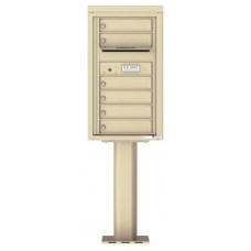 Commercial and Residential Mailboxes-Front Loading Mailbox, 4C Mailbox w/6 Tenant Compartments, 1 Parcel Locker