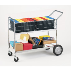 Mail Room and Office Carts Extra Long Transport Mail Distribution Truck/Cart