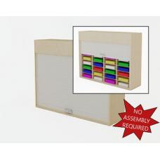 "Mailroom Security Sorters in Wood 52-1/4""W Wood Sorter - 32 Pocket."