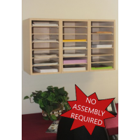 Mailroom Furniture and Office Organizers 21 Pocket Wood Sorter/Office Organizer (Shown Wall Mounted)
