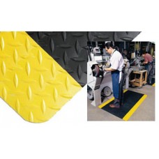 """Mail Room and Office Supplies Yellow Trimmed Anti-Fatigue Mat 24""""W x 36""""L Relieves Strain on Legs and Back"""