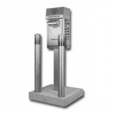 Mail Room and Office Supplies Stainless Steel Outdoor Payment Box with Protector Posts