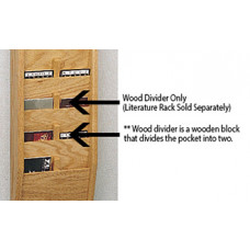 Office Supplies and Accessories Wooden Pocket Divider