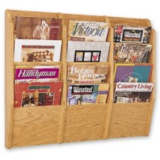 Office Supplies Magazine Rack Triple Wall Rack - 12 Pockets