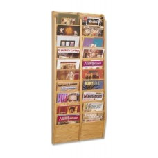 Office Supplies Magazine Racks - Double Wall Rack - 20 Pockets