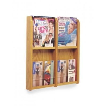 Office Products Magazine Racks   Wood And Acrylic Magazine/Pamphlet  Combination Rack