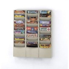 Office Supplies Magazine Racks Wall Rack 33 Pockets - Black