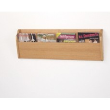 """Over Stock Item! Only One Left! 36""""W Oak Magazine Trough"""