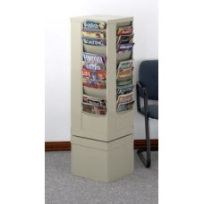 Office Products Magazine Racks Rotary Rack 44 Pockets - Black
