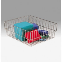 Mail Room and Office Supplies Compact Wire Mail Parcel Basket