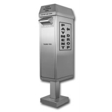 Mail Room and Office Products Drive up Stainless Steel Payment Box with Surface Mount Pedestal
