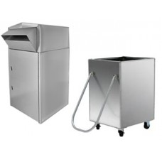 Mail Room and Office Mailing Products Walk or Drive up Stainless Steel Mail Box with Cart