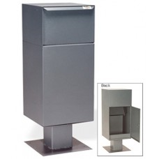 Mail Room and Office Mailing Products Outdoor Steel Pedestal Mail Box