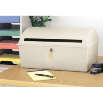 """Close-Out Special"" Large Desktop Drop Box - Heavy Molded Plastic Construction (Only One Left!)"