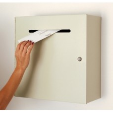 Mail Room and Office Supplies Steel Wall Mount Mail Drop Box - Large