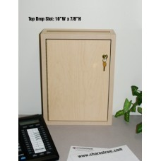 """""""Close Out"""" Light Maple Wall Mount Drop Box (Only One Left!)"""