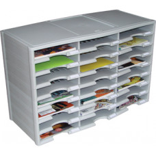 Mail Room and Office Organizers 24 Pocket Plastic Economy Literature Organizer