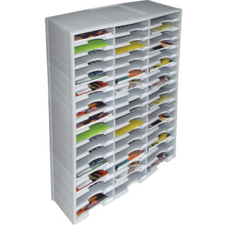 Office Organizers and Mail Room Sorters 48 Pocket Plastic Economy Literature Organizer