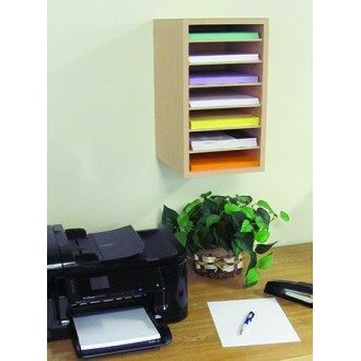 Custom Mail Room and Office Furniture 7 Pocket Custom Wood Sorter/Organizer