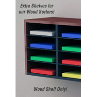 "Mail Room Sorter Supplies 11-1/2""W x 12""D Shelves for Wood Sorters (Sold in Packages of 8)"