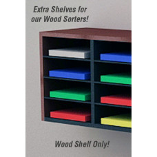 "Mail Room Furniture and Office Organizers 9""W x 12""D Shelves for Wood Sorters (Pkg of 8)"