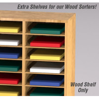 "Mail Room and Office Organizer Supplies 11-1/2""W X 15""D Shelves for Wood Sorters (Sold in Packages of 8)"