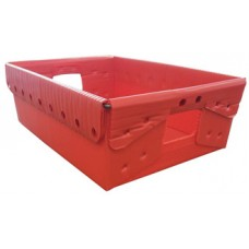 "Close Out while Supplies Last, 18 1/4"" x 13 1/4"" x 6""H Corrugated Plastic Tote"