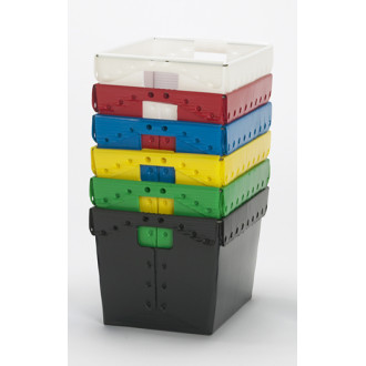 """Mail Room and Office Supplies Corrugated Plastic Postal Tote 18-1/4"""" x 13-1/4"""" x 11-1/2""""H"""