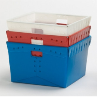 "Close Out While Supplies Last! 18-1/4"" x 18-1/4"" x 11-1/2""H Corrugated Plastic Tote"